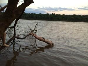 Sojaanbau ist wie ein Sprung ins kalte Wasser Brasilien, Oktober 2014, Rio Iguaçu Schlangen und Krokodile waren inklusive ;-)